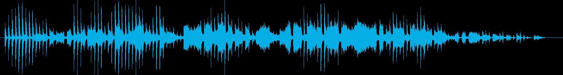 前衛的なメロディーの再生済みの波形