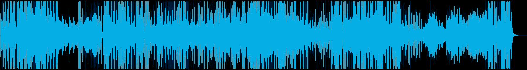 映像BGM 荒ぶるジャズロックピアノの再生済みの波形