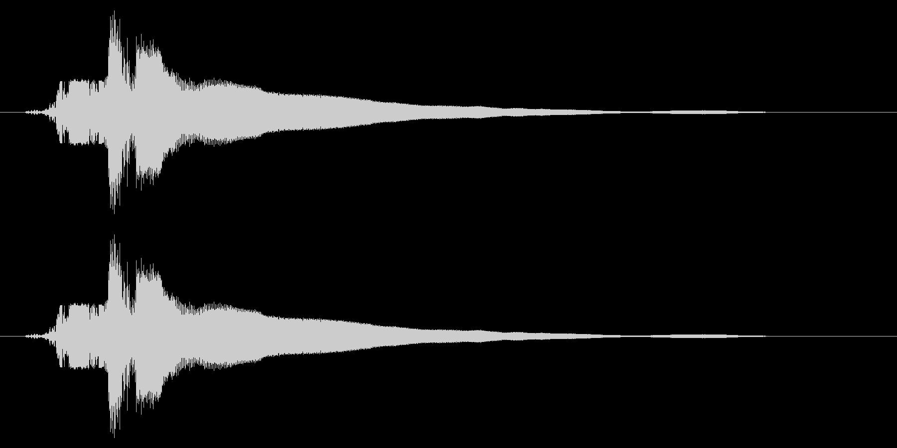 カキーン!(刀や剣のインパクト等) 1bの未再生の波形