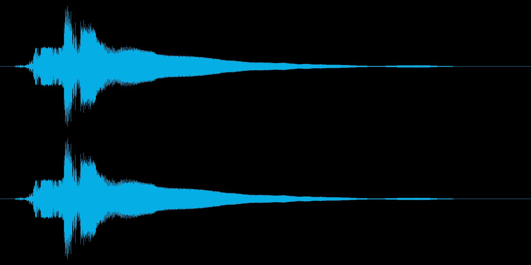カキーン!(刀や剣のインパクト等) 1bの再生済みの波形