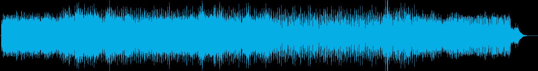 深海を進むようなエレクトロサウンドの再生済みの波形