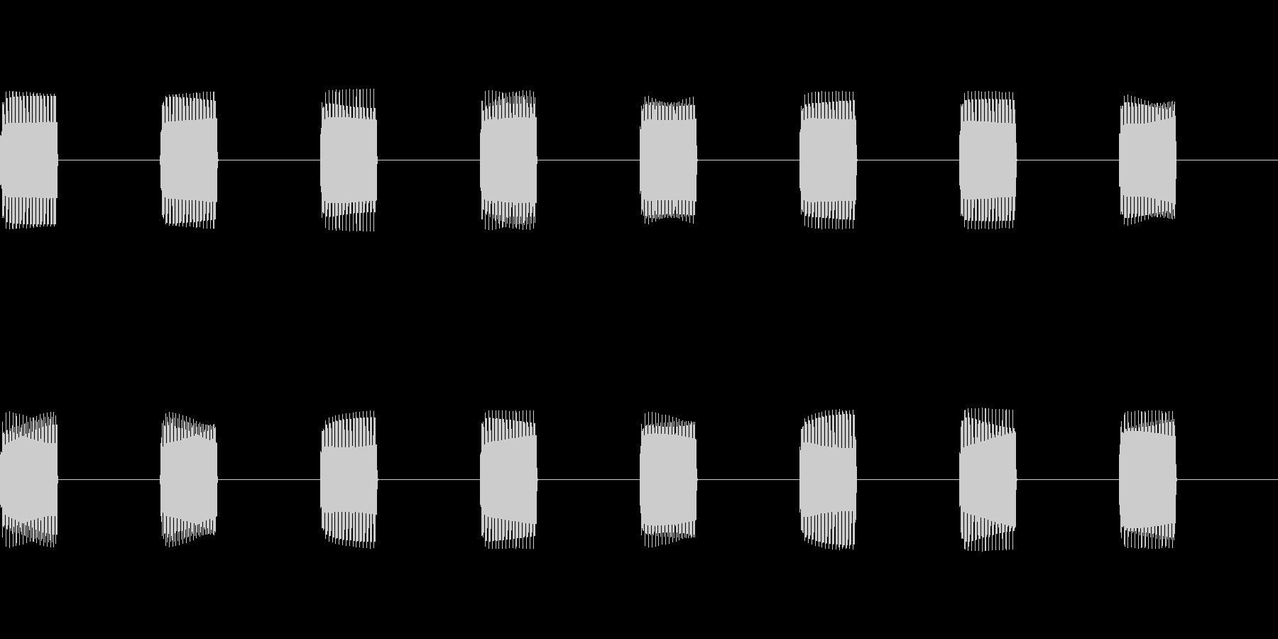 携帯電話やPHSのプルルルルという着信音の未再生の波形