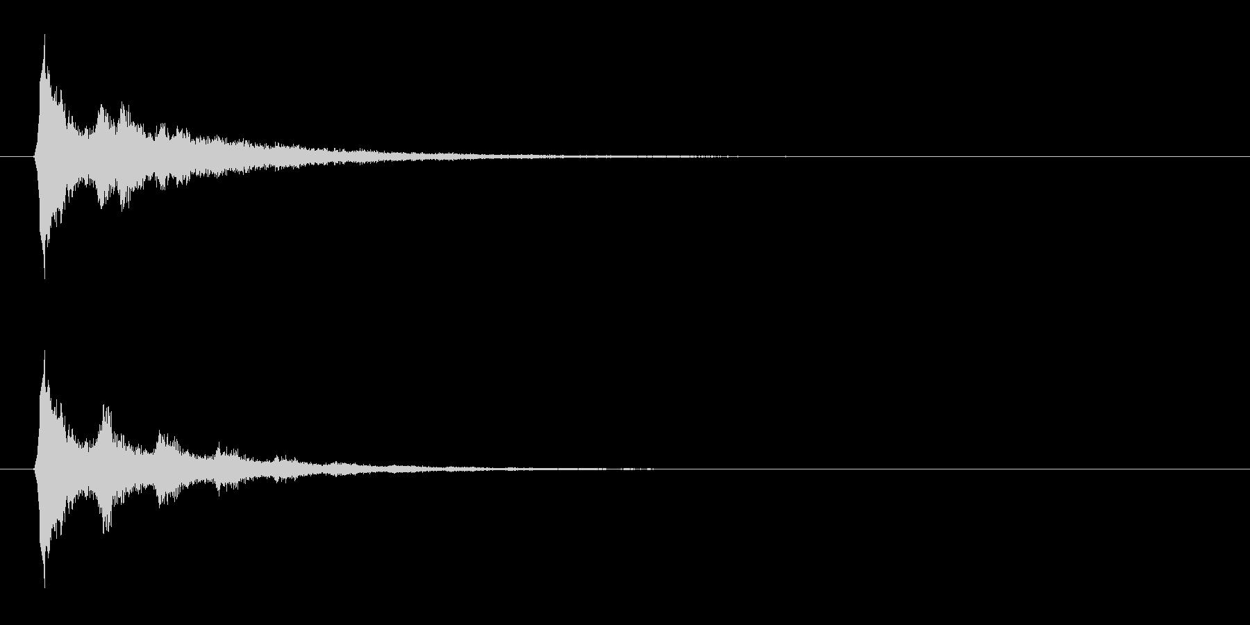 流れ星をイメージした電子音の未再生の波形