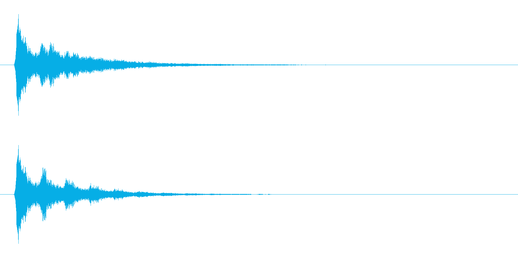 流れ星をイメージした電子音の再生済みの波形