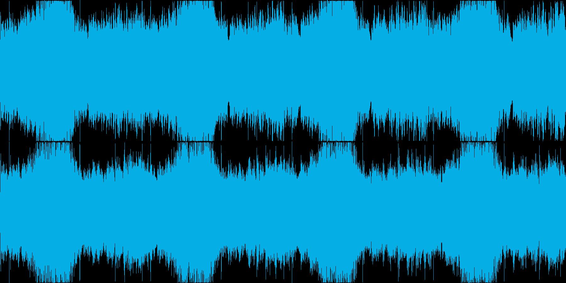 日本ホラーを意識したBGMの再生済みの波形