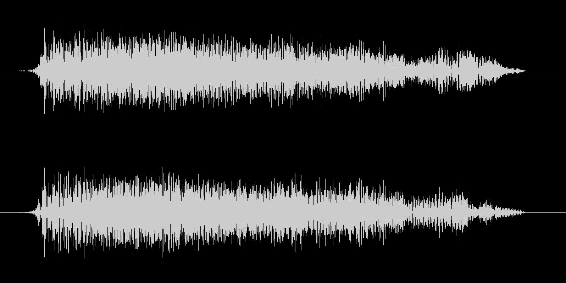 ギューンという上昇感のある音の未再生の波形