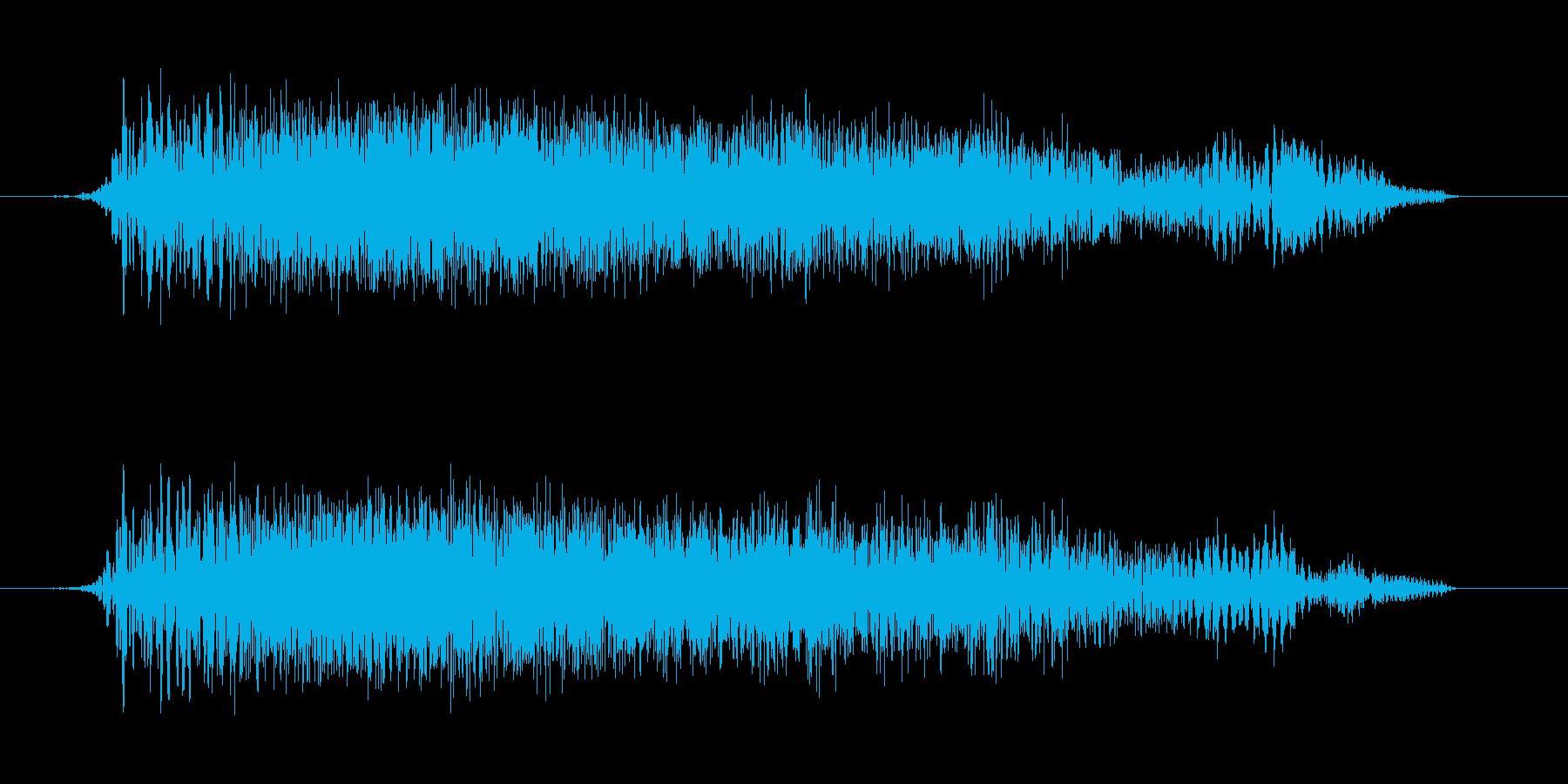 ギューンという上昇感のある音の再生済みの波形