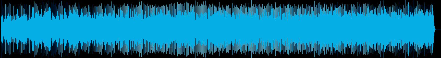 明るい展開のあるシンセサイザーの曲の再生済みの波形