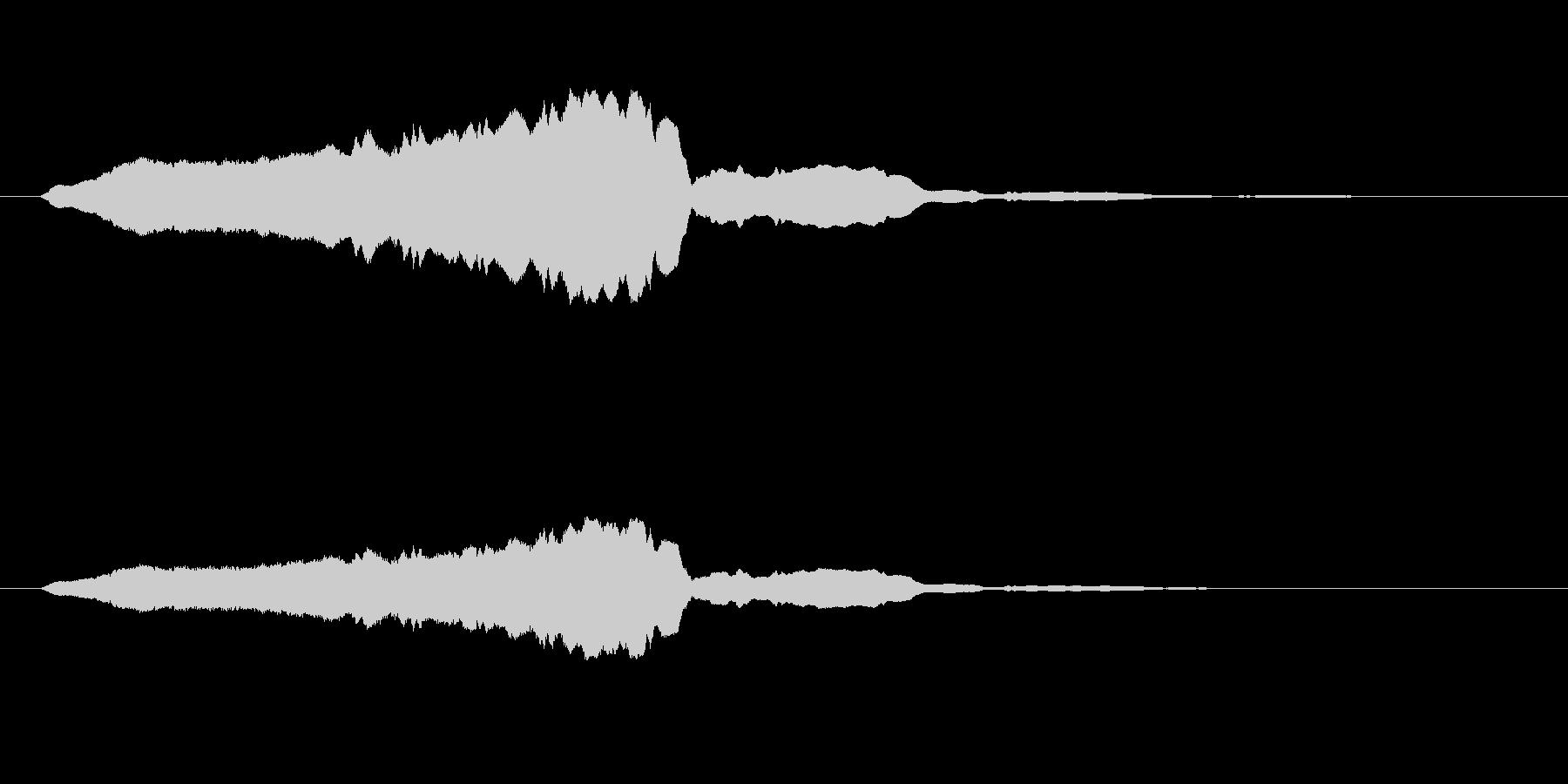 【ブーン】という蚊が飛ぶ音の未再生の波形