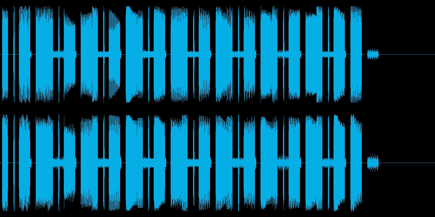 コンピューターの故障・暴走の再生済みの波形