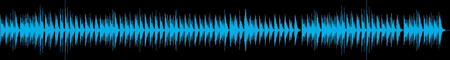 静かな雰囲気、旋律のピアノ曲の再生済みの波形