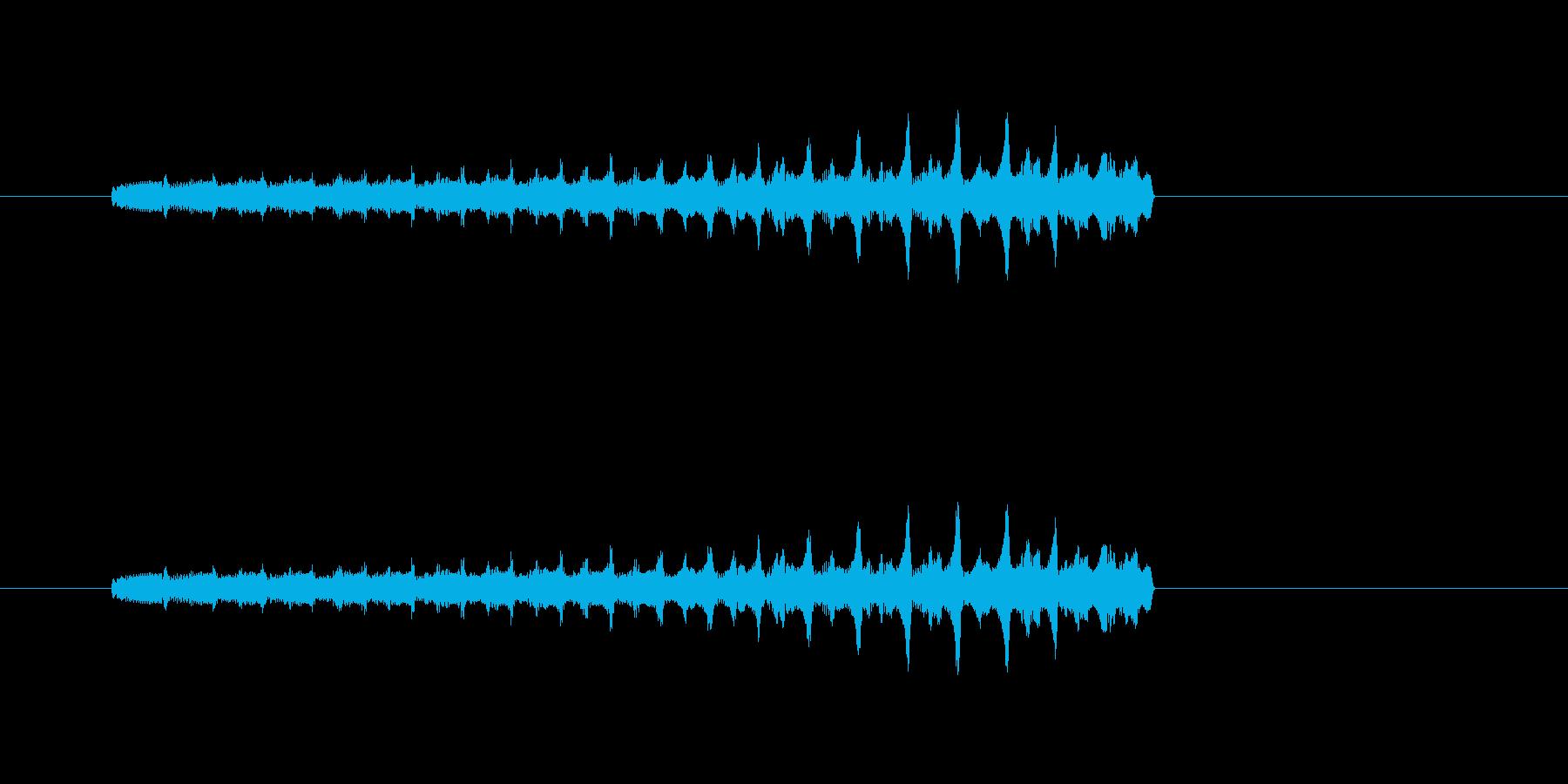 ポップチャージの再生済みの波形