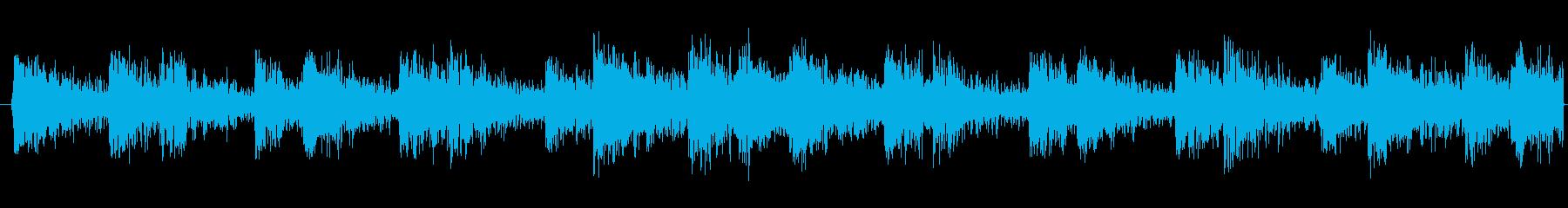 ループ可能な太鼓リズムトラックの再生済みの波形
