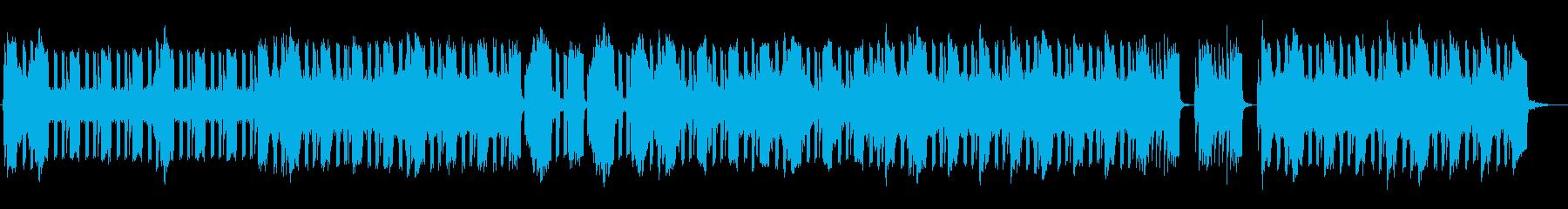 近未来的でシャープさが魅力の曲の再生済みの波形