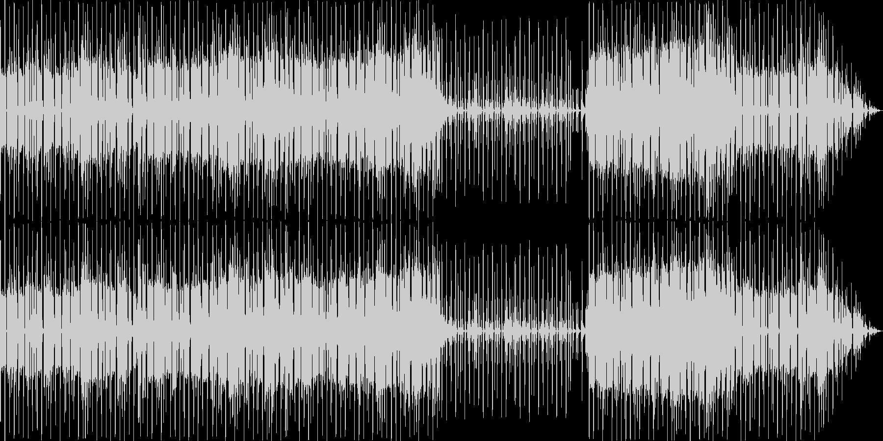エレクトロニカで怪しげなBGMの未再生の波形