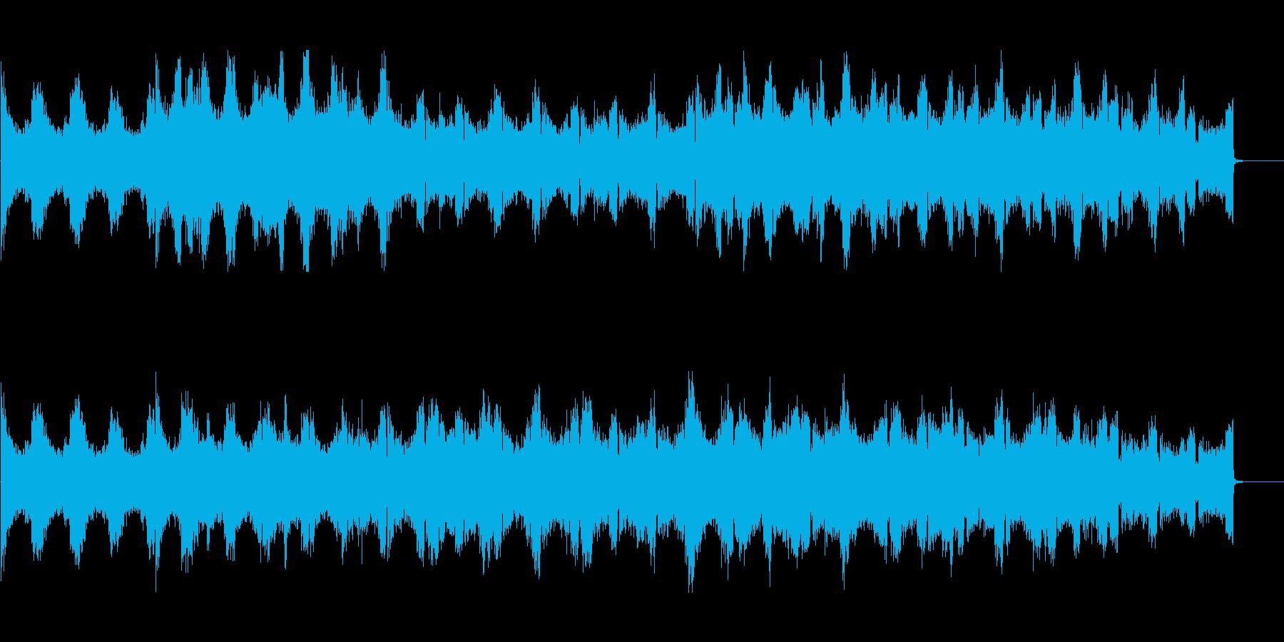 インダストリアルシーンの背景に 2の再生済みの波形