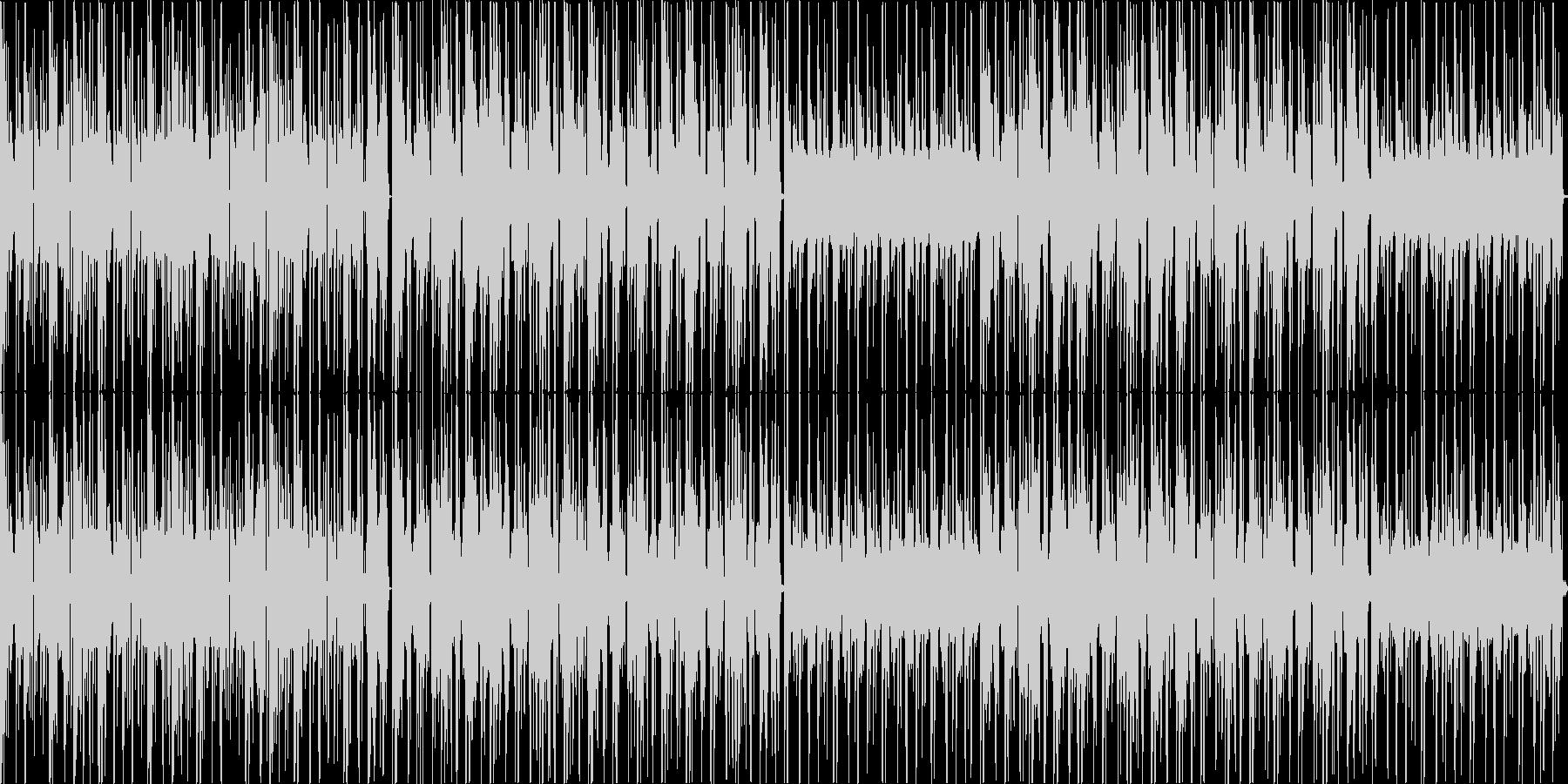 ハードボイルドな雰囲気のクールなテクノの未再生の波形
