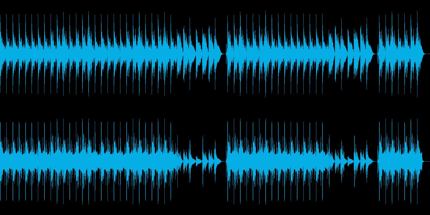 ゆったりとした曲、ほのぼの系の再生済みの波形