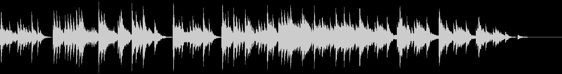 哀愁のある素朴な小曲(ピアノ+シンセ)の未再生の波形