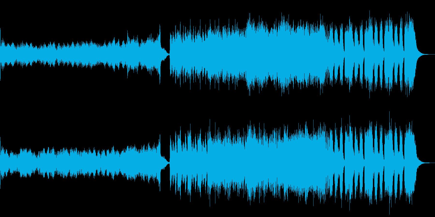 テーマソング、映画の予告動画をイメージの再生済みの波形