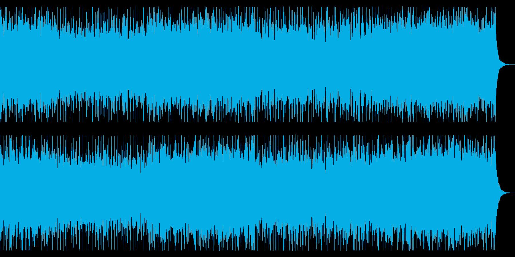 ポップで軽快なシンセサイザーBGMの再生済みの波形