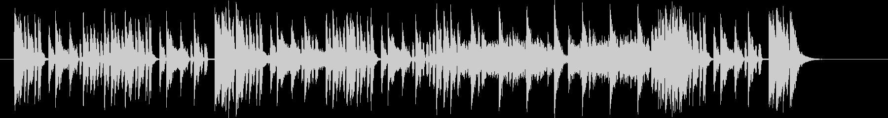 デジタルファンクな30秒BGMの未再生の波形
