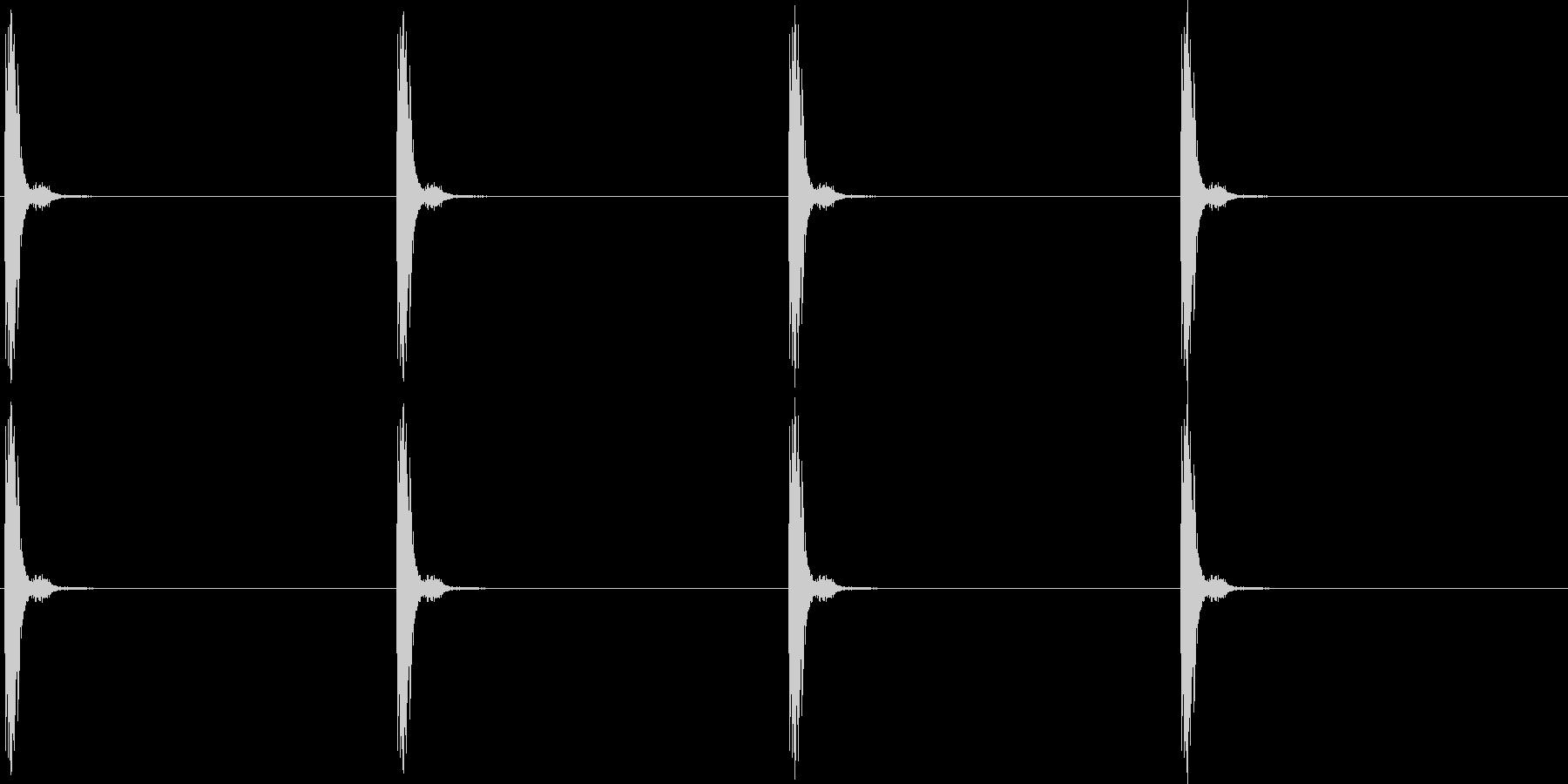 チャッチャッ。時計の秒針A(短)の未再生の波形