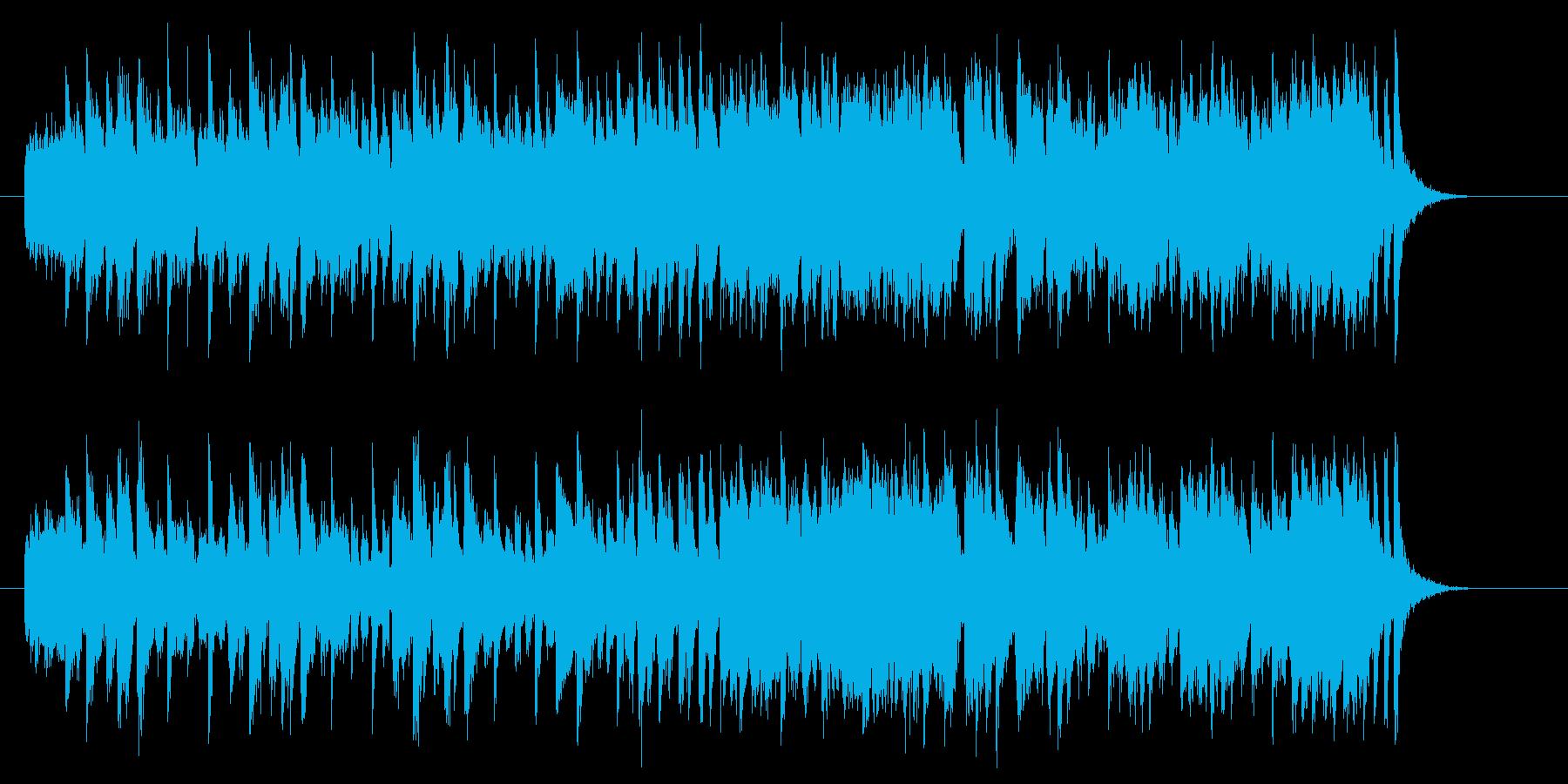 疾走感のあるフュージョンのジングル曲の再生済みの波形