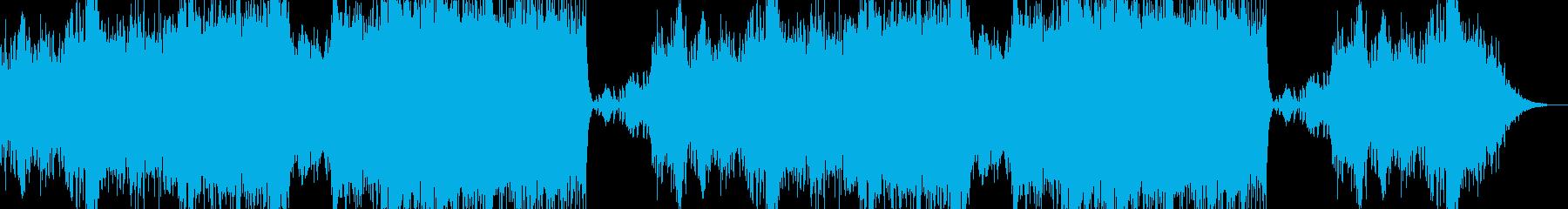 勇者が旅に出る場面をイメージした曲の再生済みの波形