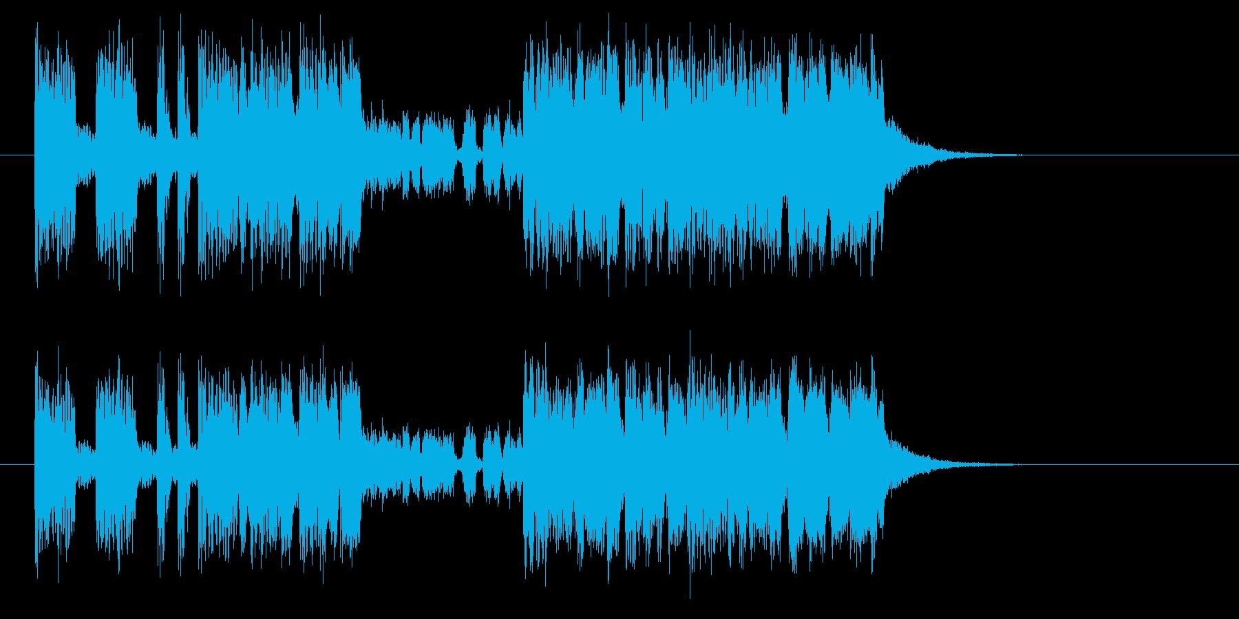 スピーディーでワイルドなジングルの再生済みの波形
