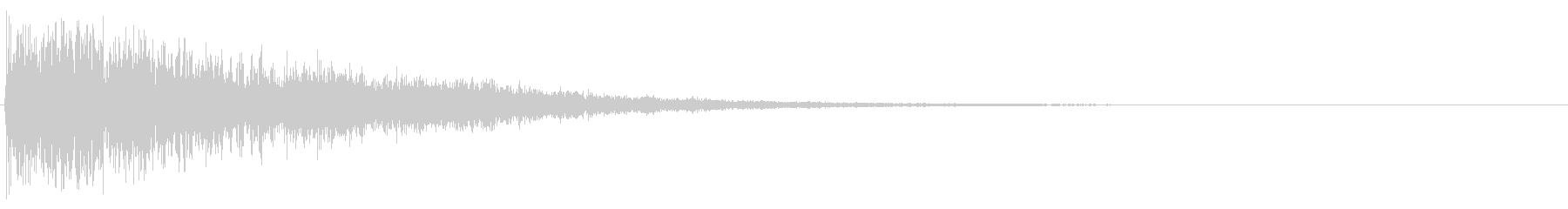 暗い雰囲気で、迫力のあるロゴ用の効果音…の未再生の波形