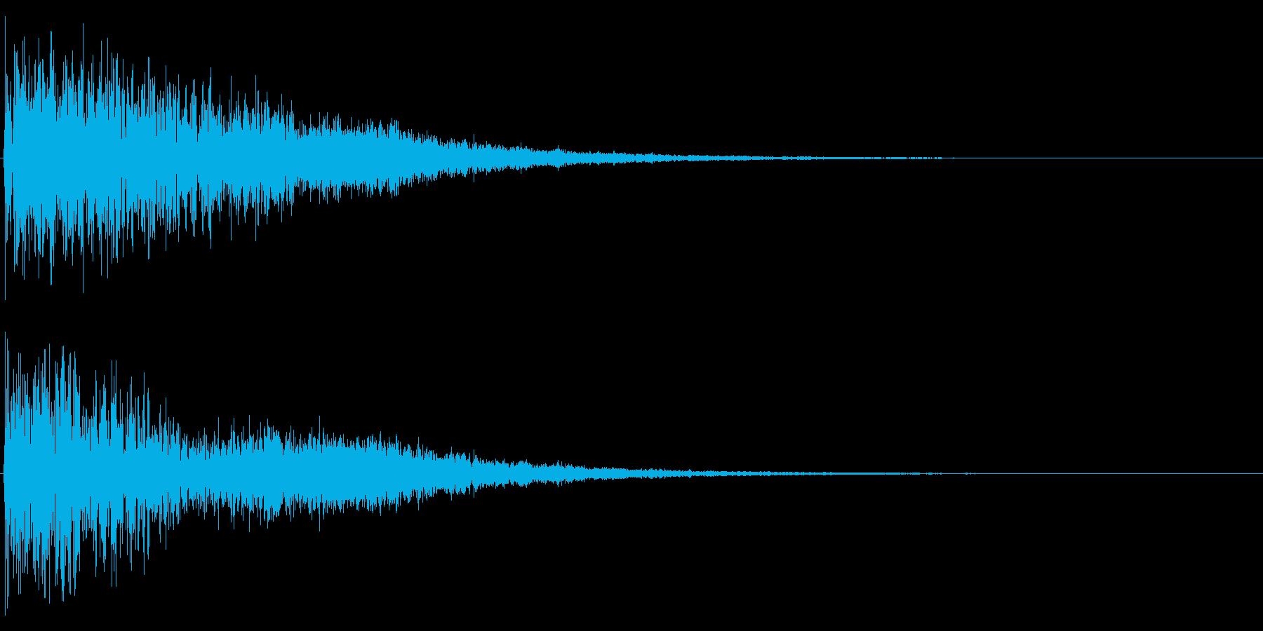 暗い雰囲気で、迫力のあるロゴ用の効果音…の再生済みの波形