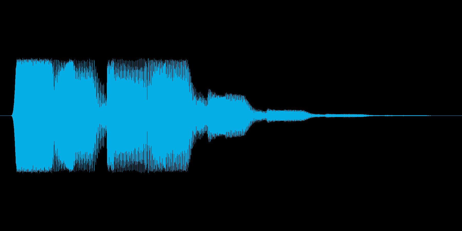 ファミコン風効果音決定音系です 17の再生済みの波形