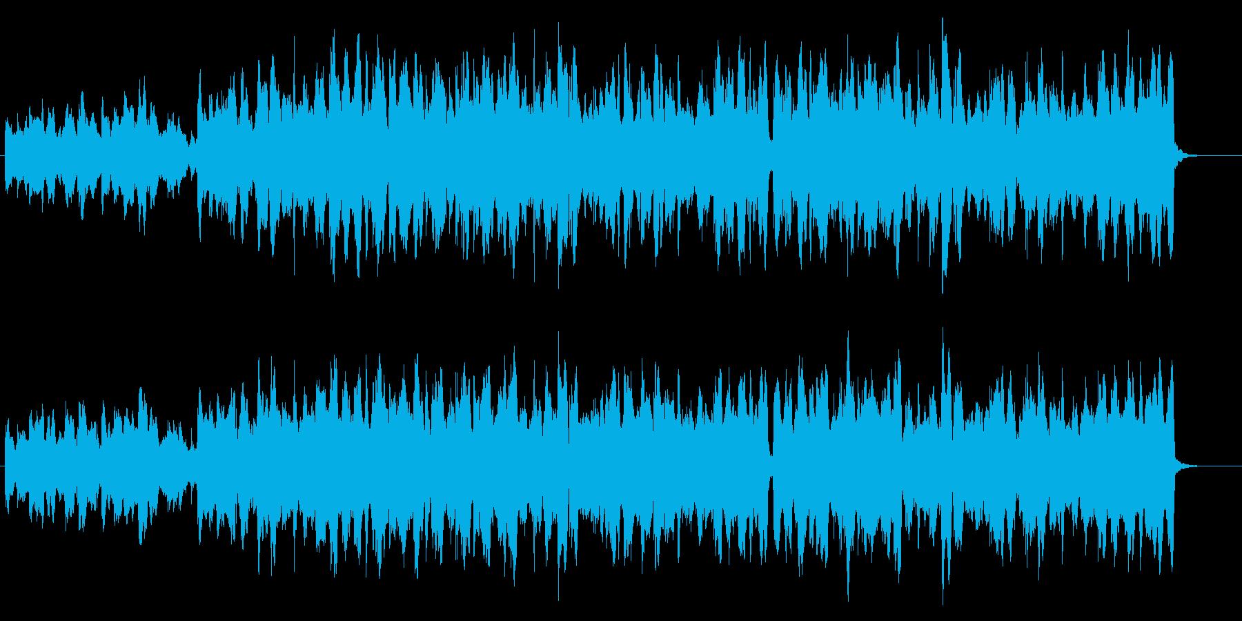 シンセ音で、ベートーベン作「歓喜の歌」の再生済みの波形