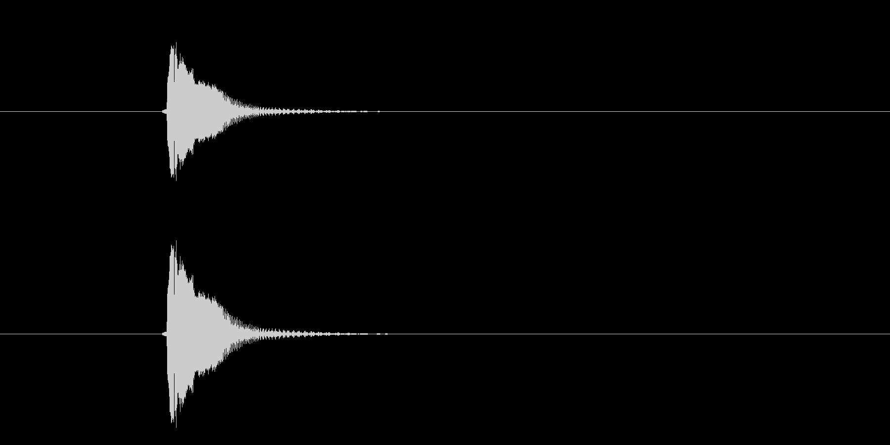 チューン(攻撃、ビーム)の未再生の波形