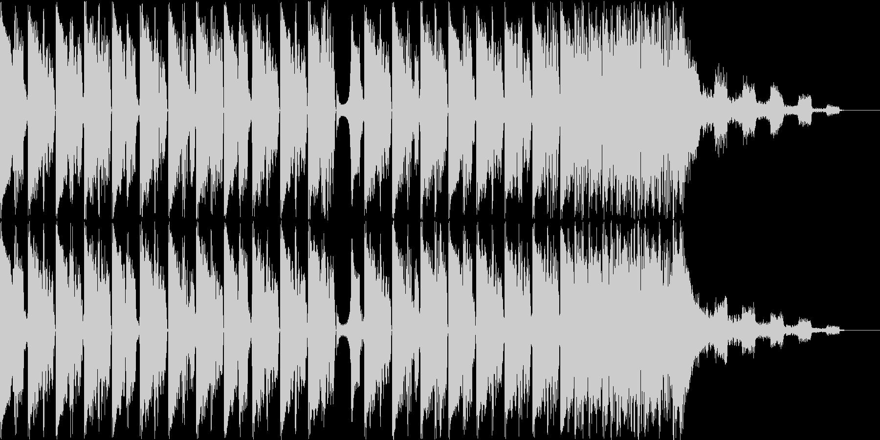 コミカルなハウスBGMの未再生の波形