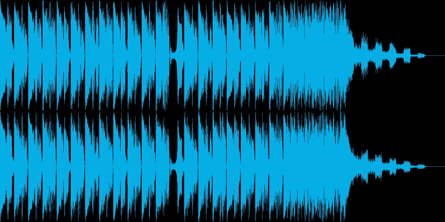 コミカルなハウスBGMの再生済みの波形