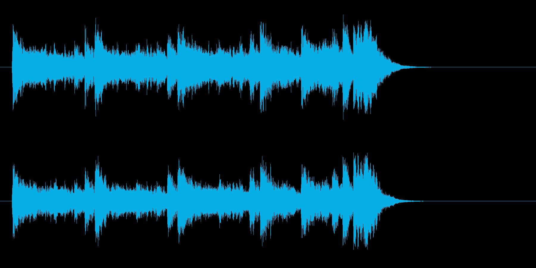 ピアノのライト・ポップス(イントロ)の再生済みの波形