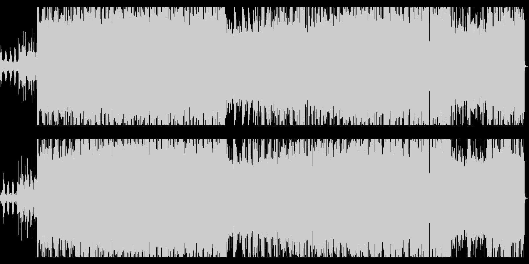 ギター/ベースのリフがメインのロックの未再生の波形