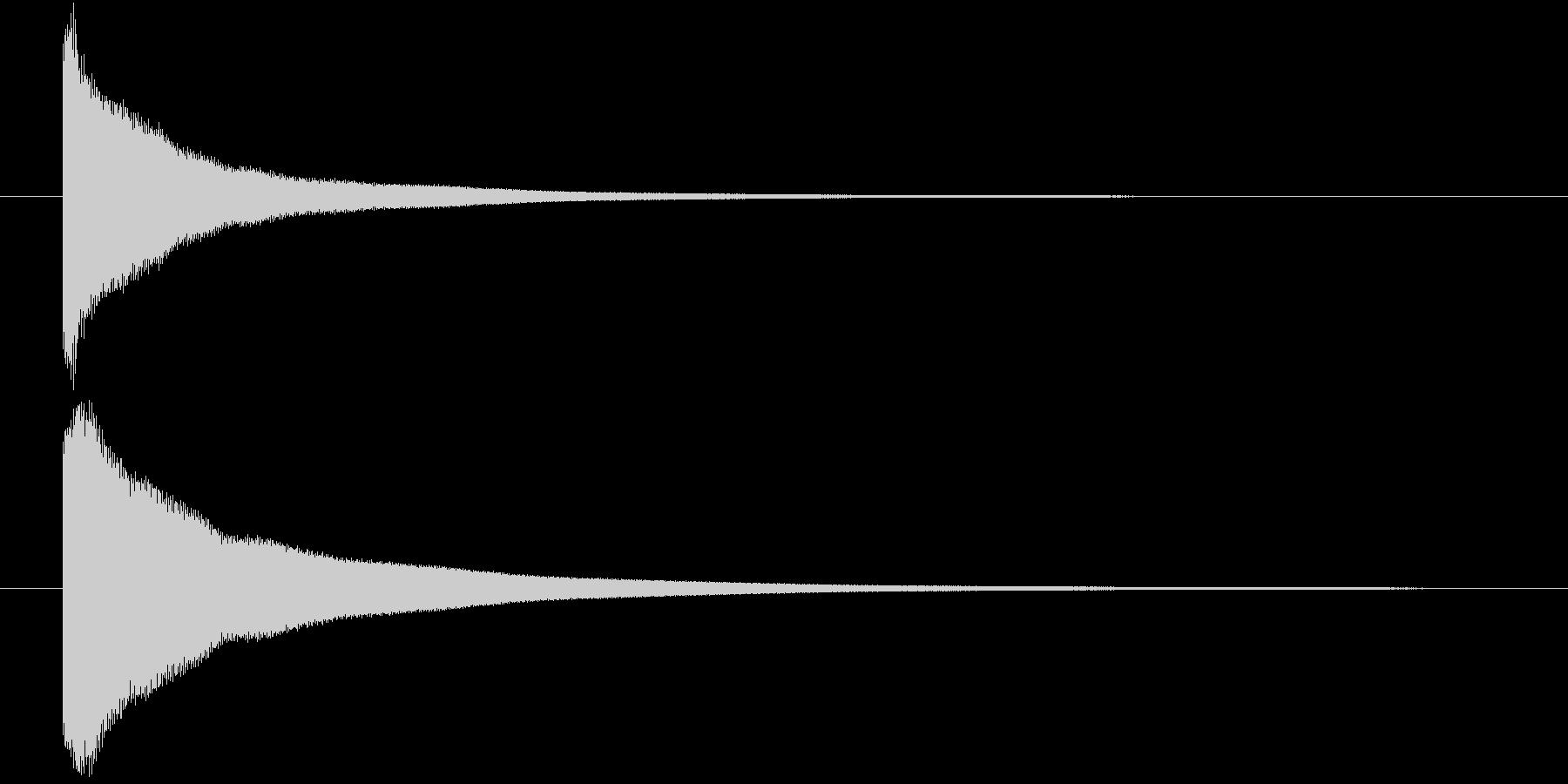 不合格の鐘1つ(カーン)の未再生の波形