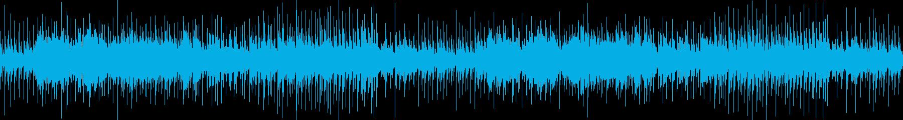 神秘的な雰囲気のループBGMの再生済みの波形