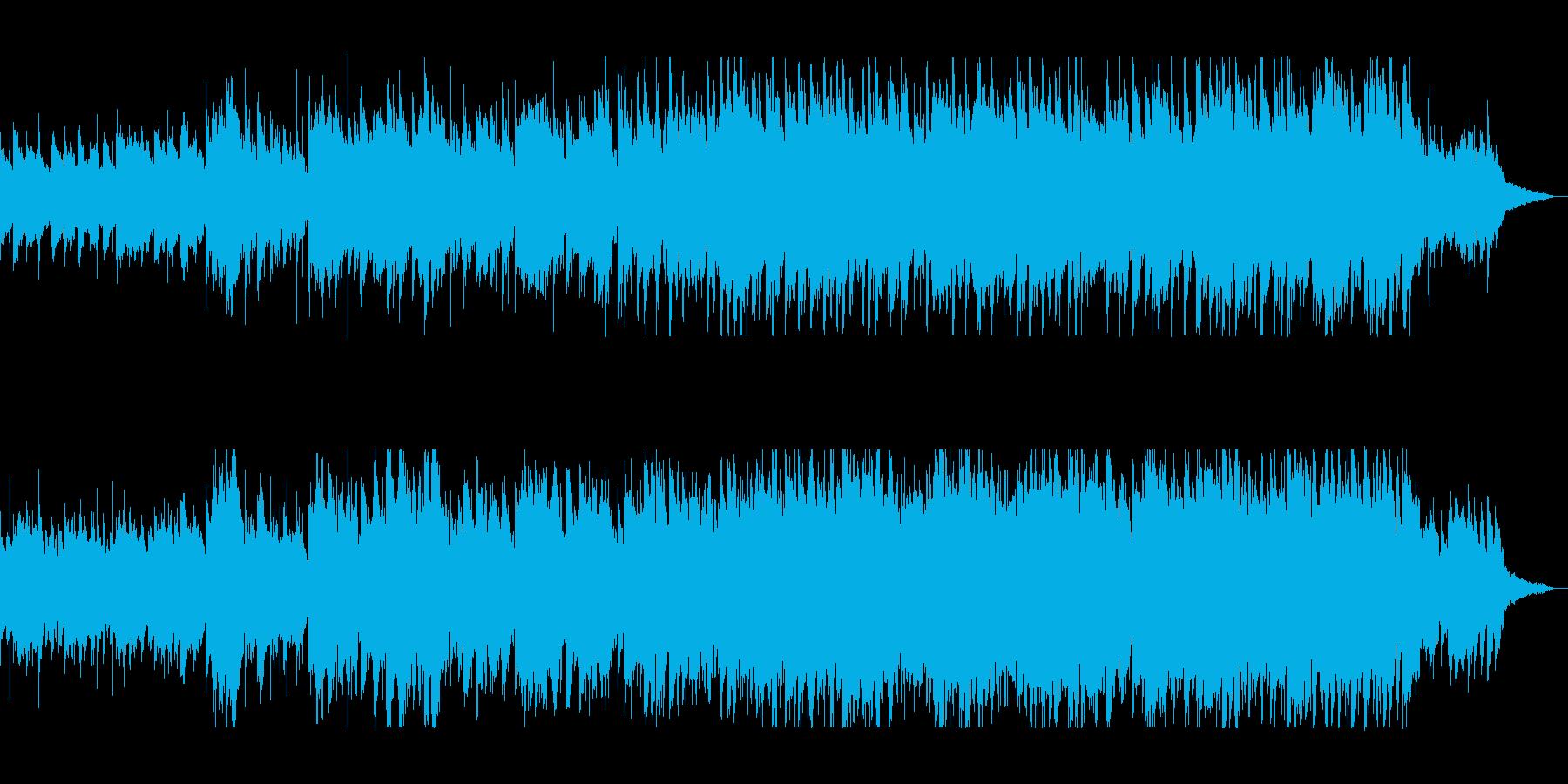 和風シンセのヒーリングサウンドの再生済みの波形