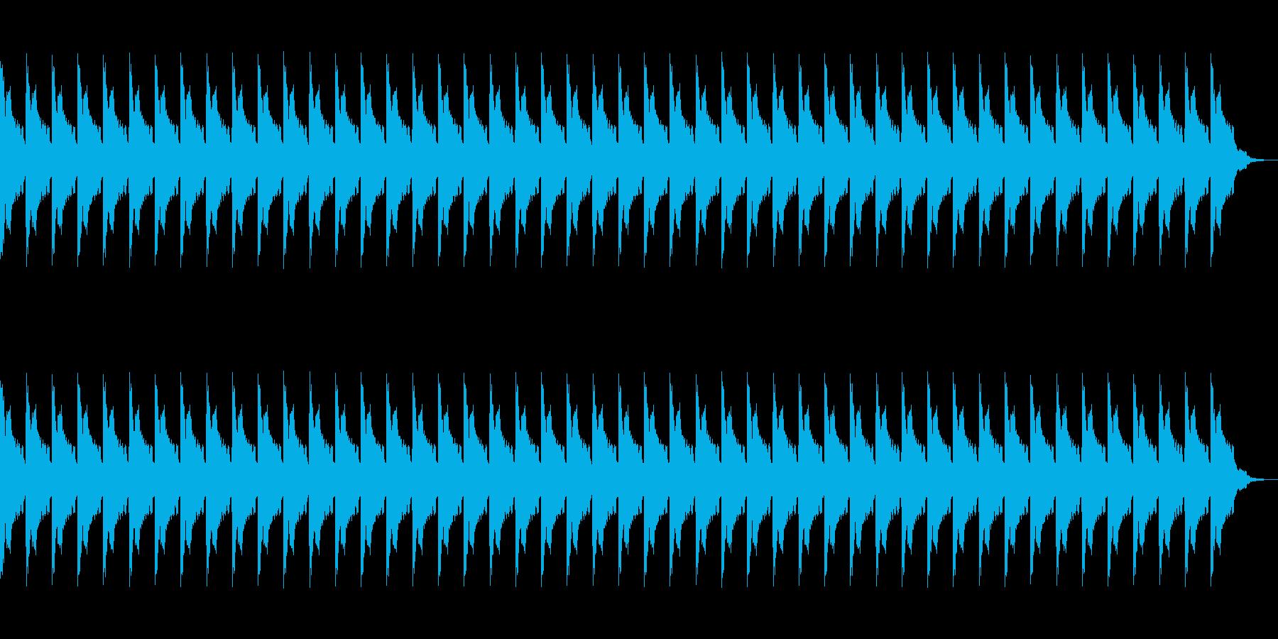 アニメ、SFなどにありそうなアラームの再生済みの波形