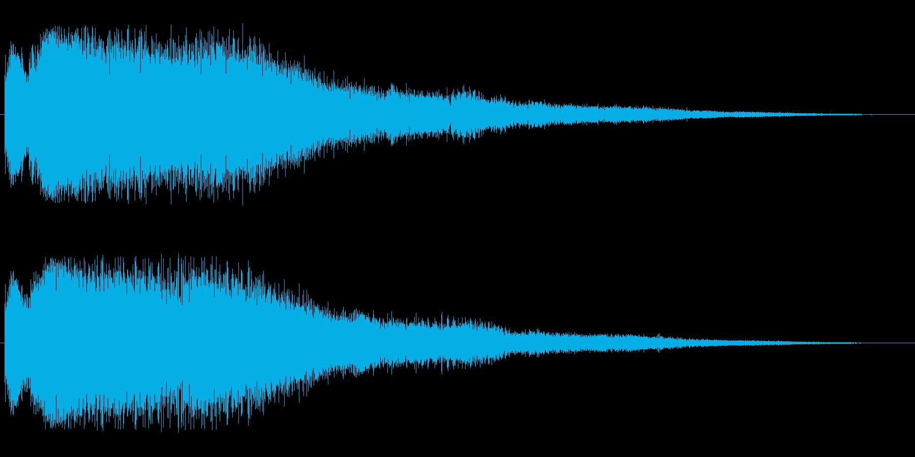 キラリン(高くて軽やかで涼やかな効果音)の再生済みの波形