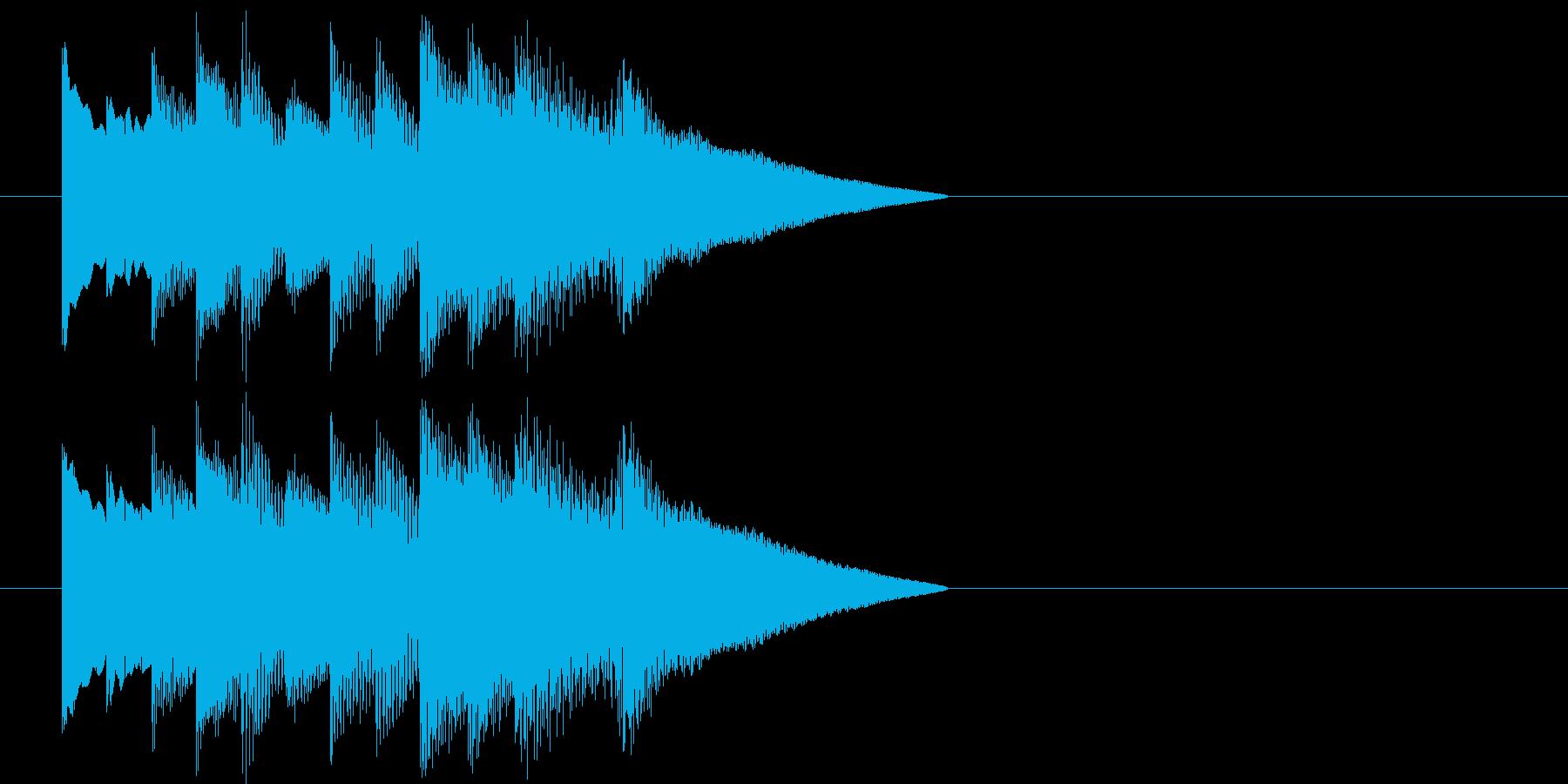 オルゴールによる場面転換・アイキャッチの再生済みの波形