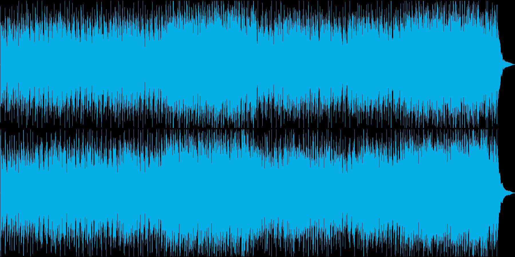 アンデスの迫力ある民族音楽系オリジナルの再生済みの波形