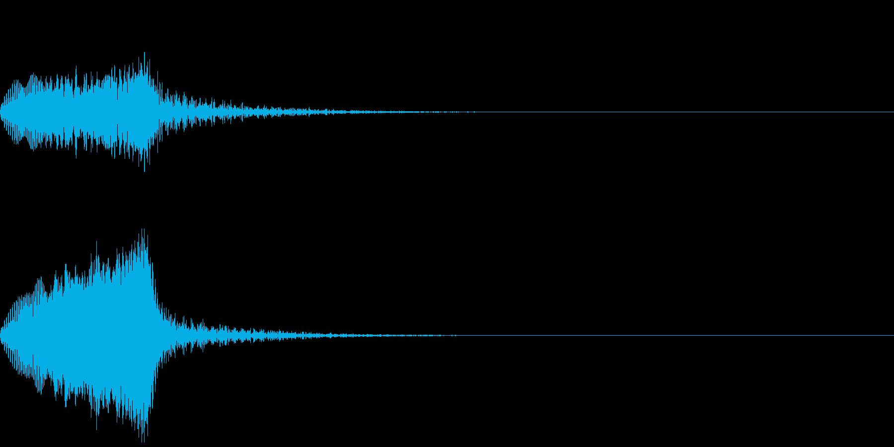 決定音16(電子音)の再生済みの波形