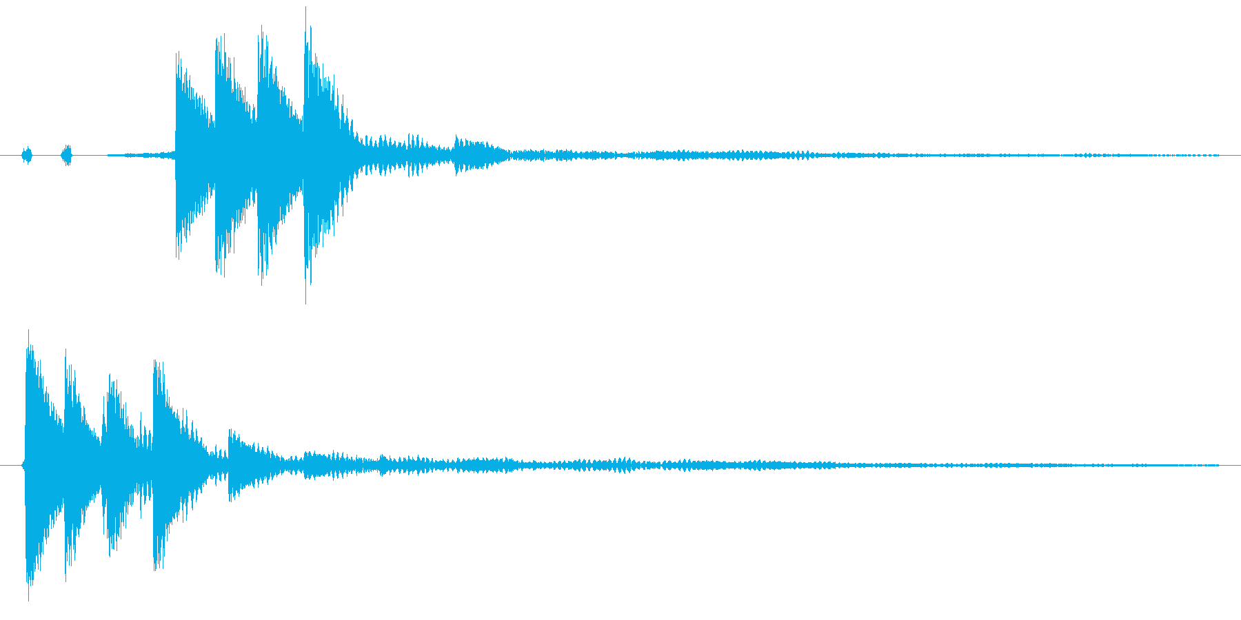 ポロ、ポロン(電子音)の再生済みの波形