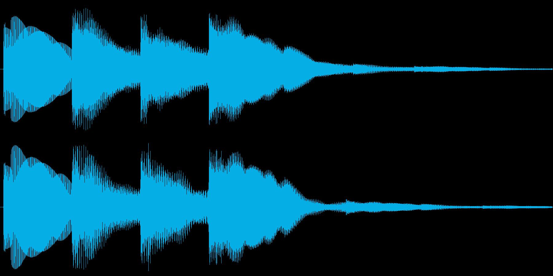 キンコンカンコーン(インフォメーション…の再生済みの波形