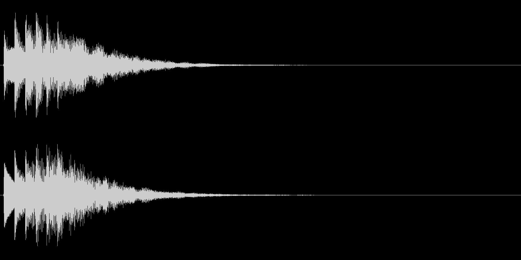 タララララン↑(場面転換、上昇)の未再生の波形